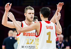 Andrey Zubkov of Russia and Aleksei Shved of Russia during basketball match between National Teams of Russia and Serbia at Day 16 in Semifinal of the FIBA EuroBasket 2017 at Sinan Erdem Dome in Istanbul, Turkey on September 15, 2017. Photo by Vid Ponikvar / Sportida