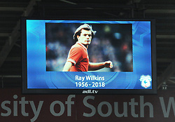 A minutes applause is held for former footballer Ray Wilkins who passed away- Mandatory by-line: Nizaam Jones/JMP- 06/04/2018/ -  FOOTBALL - Cardiff City Stadium - Cardiff, Wales - Cardiff City  v Wolverhampton Wanderers - Sky Bet Championship