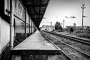 Abandoned railroad doc in Winston-Salem, NC.