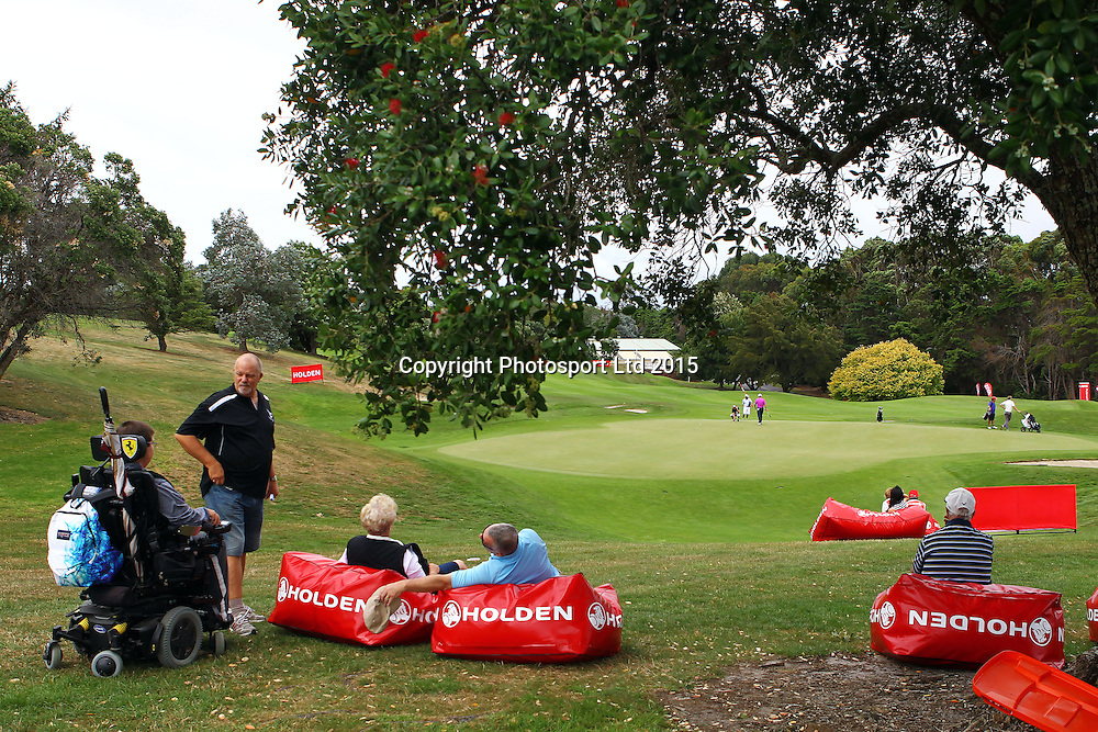 Fans watch in comfort during the Holden NZPGA Championship at Remuera Golf Course in Auckland, New Zealand. Friday 6 March 2015. Copyright photo: William Booth / www.Photosport.co.nz