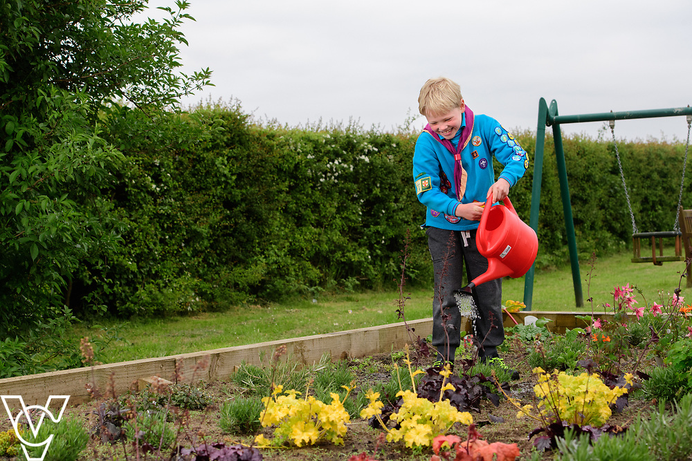 Lincolnshire Co-op Members Magazine feature on the society's Community Champions.  1st Foston Scout Group have recently installed a flowerbed and bug hotel and plan to use money from the Community Champions Scheme for further improvements.<br /> <br /> Picture: Chris Vaughan Photography<br /> Date: May 8, 2017