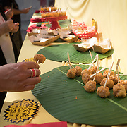 FEBRUARY 10, 2018---MIAMI, FLORIDA<br /> Miami Culinary Institute students from MDC prepared dishes and drinks as part of Miami based artist Antoni Miralda's event, The Maggic Banquet, a multifaceted participatory project centered on food  at EXILE Books in Little Haiti.<br /> (PHOTO BY ANGEL VALENTIN for MDC