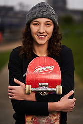 Helena Long during the Street League Skateboarding World Tour media launch at the ArcelorMittal Orbit, London.