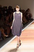purple-gray knit sleeveless dress.