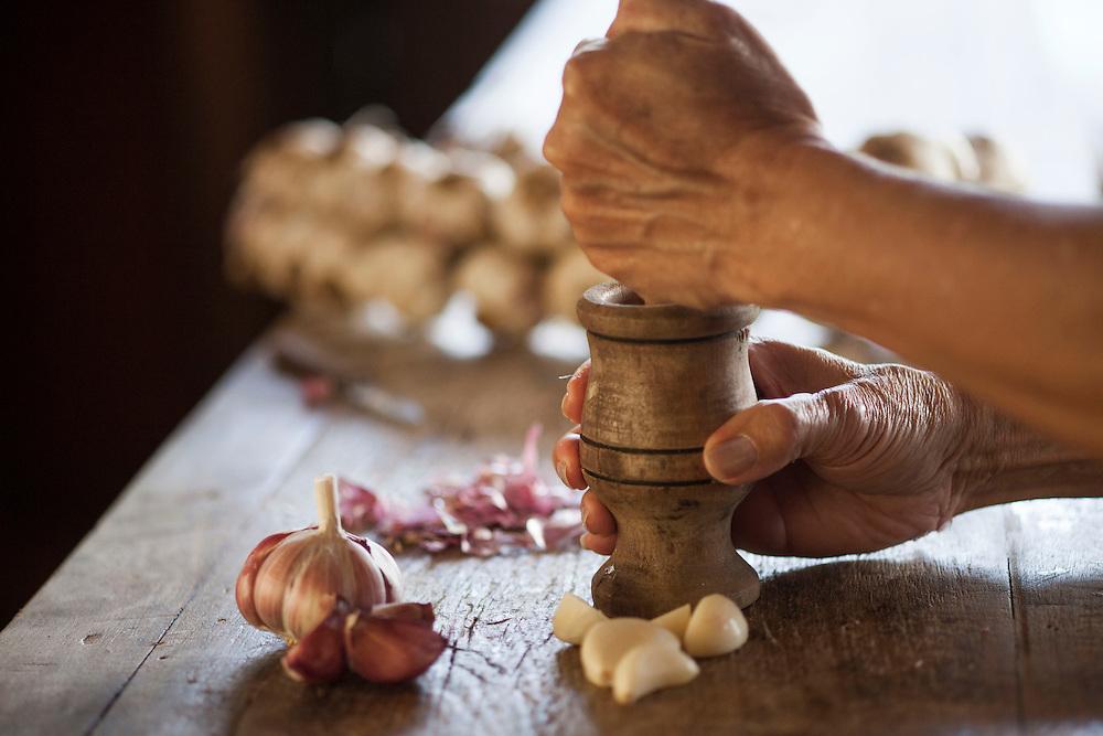 Belo Horizonte_MG, Brasil.<br /> <br /> Detalhes de alho.<br /> <br /> Garlic detail.<br /> <br /> Foto: JOAO MARCOS ROSA/NITRO
