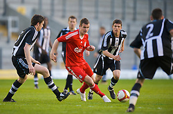 WARRINGTON, ENGLAND - Wednesday, April 29, 2009: Liverpool's Andras Simon in action against Newcastle United during the FA Premiership Reserves League (Northern Division) match at the Halliwell Jones Stadium. (Photo by David Rawcliffe/Propaganda)