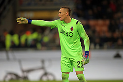 February 3, 2019 - Milan, Milan, Italy - Lukasz Skorupski #28 of Bologna FC during the serie A match between FC Internazionale and Bologna FC at Stadio Giuseppe Meazza on February 3, 2019 in Milan, Italy. (Credit Image: © Giuseppe Cottini/NurPhoto via ZUMA Press)