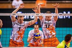 20-05-2018 NED: Netherlands - Slovenia, Doetinchem<br /> First match Golden European League / (L-R) Daan van Haarlem #1 of Netherlands, Michaël Parkinson #17 of Netherlands