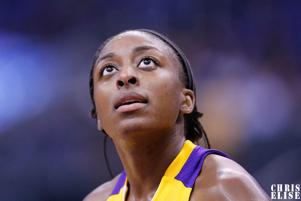 25 May 2014: Los Angeles Sparks forward Nneka Ogwumike (30) is seen during the Los Angeles Sparks 83-62 victory over the San Antonio Stars, at the Staples Center, Los Angeles, California, USA.