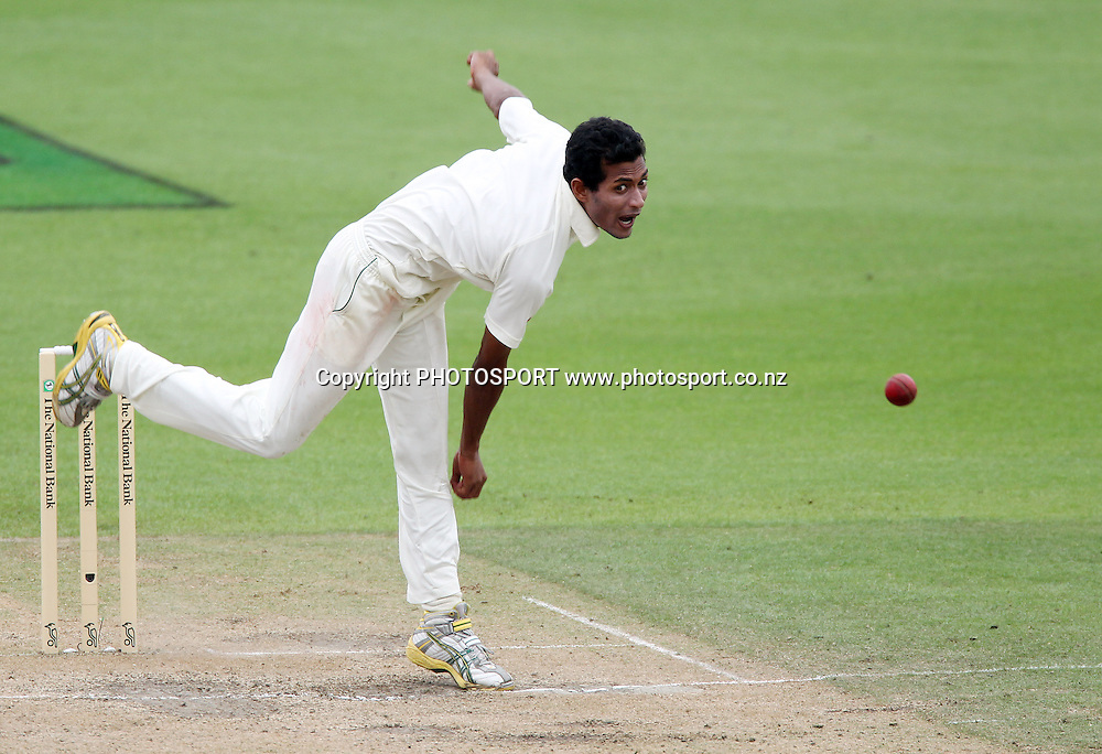 Shafiul Islam bowling for Bangladesh.<br />