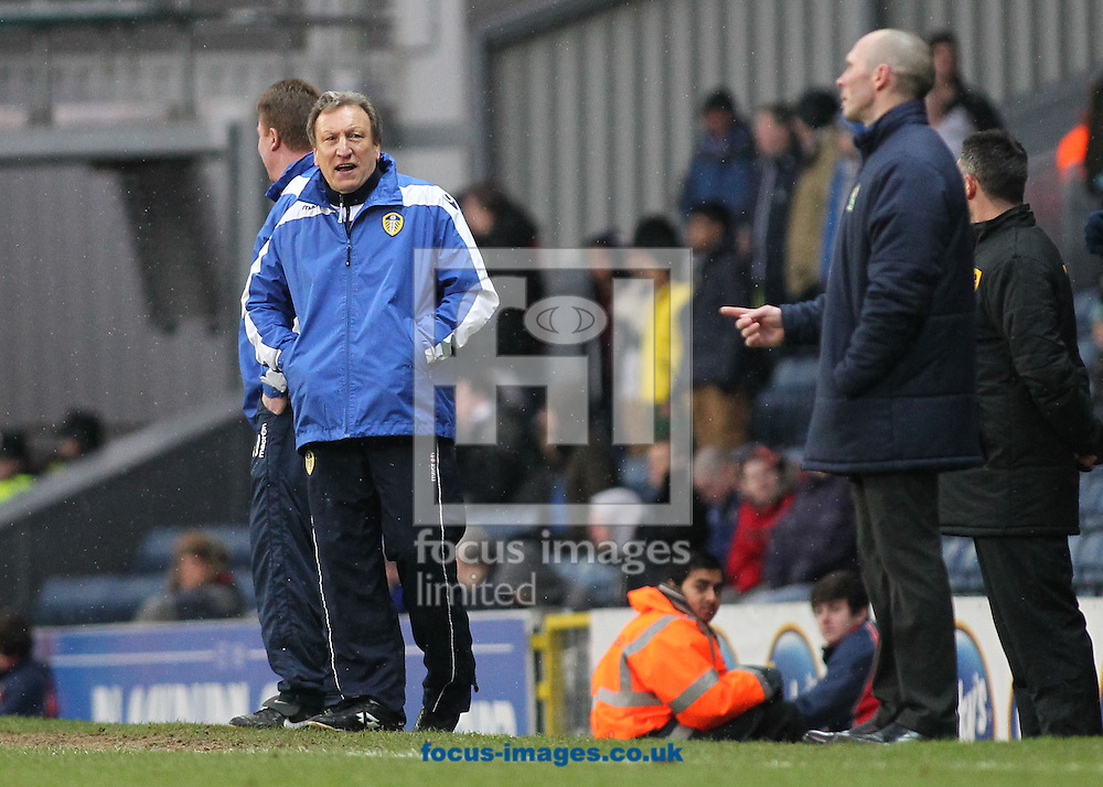 Picture by Michael Sedgwick/Focus Images Ltd +44 7900 363072.23/02/2013.Neil Warnock, manager of Leeds United on the touchline during the npower Championship match against Blackburn Rovers at Ewood Park, Blackburn.