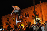 Friday night in Western Jeruslame between Hillel st and Ben Yehuda street.
