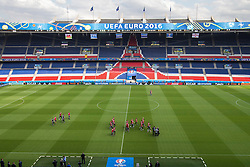 PARIS, FRANCE - Friday, June 24, 2016: Wales' xxxx during a training session at the Parc des Princes ahead of the Round of 16 UEFA Euro 2016 Championship match against Northern Ireland. (Pic by Paul Greenwood/Propaganda)