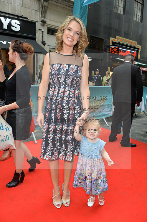 Charlotte Hawkins and her daughter Ella Rose arriving at The opening night of Wind in The Willows at the London Palladium, Argyll Street, London England. 29 June 2017.<br /> Photo by Dominic O'Neill/SilverHub 0203 174 1069 sales@silverhubmedia.com