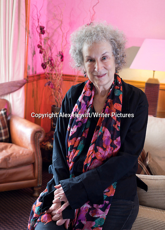 Margaret Atwood, Canadian writer and activist photographed at Channings Hotel for Janet Christie interview in Scotland on Sunday's Spectrum Magazine. 23rd August 2013<br /> <br /> Picture by Alex Hewitt