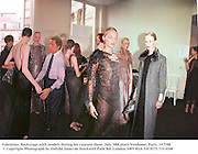 Valentino. Backstage with models during his couture show. July Ô988 place Vendome, Paris. 19/7/98. © Copyright Photograph by Dafydd Jones 66 Stockwell Park Rd. London SW9 0DA Tel 0171 733 0108