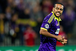 Marcos Tavares of Maribor reacts during football match between NK Maribor and Sporting Lisbon (POR) in Group G of Group Stage of UEFA Champions League 2014/15, on September 17, 2014 in Stadium Ljudski vrt, Maribor, Slovenia. Photo by Vid Ponikvar  / Sportida.com