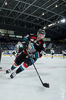 KELOWNA, CANADA - NOVEMBER 12: Dillon Dube #19 of the Kelowna Rockets warms up against the Prince Albert Raiders on November 12, 2016 at Prospera Place in Kelowna, British Columbia, Canada.  (Photo by Marissa Baecker/Shoot the Breeze)  *** Local Caption *** Dillon Dube;