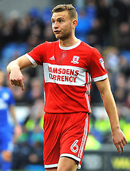 Ben Gibson of Middlesbrough gives orders - Mandatory by-line: Nizaam Jones/JMP - 17/02/2018 -  FOOTBALL - Cardiff City Stadium - Cardiff, Wales -  Cardiff City v Middlesbrough - Sky Bet Championship