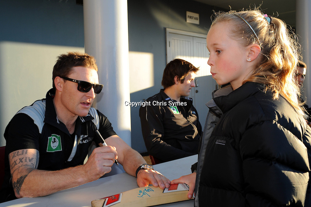 Brendon McCullum during the Black Caps signing session. Saxon Stadium, Richmond, Nelson, New Zealand. Tuesday 9 August 2011. Photo: Chris Symes/www.photosport.co.nz