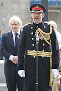 Raising the flag for Armed Forces Day <br /> at City Hall, London, Great Britain <br /> <br /> 20th June 2011<br /> <br /> Boris Johnson <br /> Mayor of London<br /> <br /> Brigadier Matthew Lowe MBE.<br /> <br /> <br /> <br /> Photograph by Elliott Franks