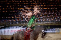 Noel Manon, FRA, Kirch de la Love, Lunger Moneuse Kevine<br /> FEI World Cup Individual Vaulting FEMALE Vlaanderens Kerstjumping<br /> Memorial Eric Wauters<br /> Jumping Mechelen 2017<br /> © Hippo Foto - Dirk Caremans<br /> 27/12/2017