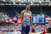 Adam GEMILI of Great Britain & NI after the Men's 100m Final(placing 6th) during the Muller Anniversary Games 2019 at the London Stadium, London, England on 20 July 2019.