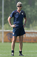 26 April 2008: United States National Team Head Coach Pia Sundhage (SWE). The United States Women's National Team held a training session on Field 3 at WakeMed Soccer Park in Cary, NC.