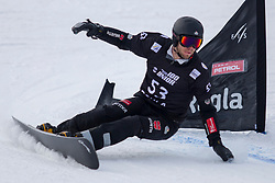 Christian Hupfauer (GER) during Final Run at Parallel Giant Slalom at FIS Snowboard World Cup Rogla 2019, on January 19, 2019 at Course Jasa, Rogla, Slovenia. Photo byJurij Vodusek / Sportida