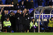 Birmingham City manager Gianfranco Zola applauds, claps during the EFL Sky Bet Championship match between Birmingham City and Brighton and Hove Albion at St Andrews, Birmingham, England on 17 December 2016.