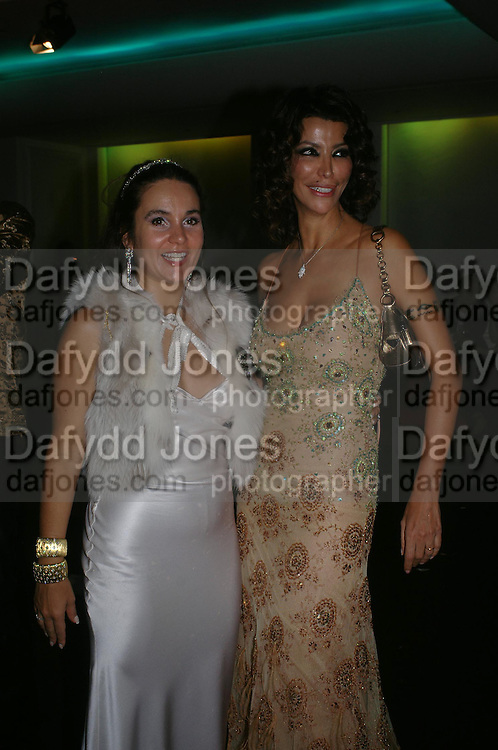 Mrs. Graham Bourne and Mrs. Carlos Monteverdi.  Andy & Patti Wong's Chinese New Year party to celebrate the year of the Rooster held at the Great Eastern Hotel, Liverpool Street, London.29th January 2005. The theme was a night of hedonism in 1920's Shanghai. . ONE TIME USE ONLY - DO NOT ARCHIVE  © Copyright Photograph by Dafydd Jones 66 Stockwell Park Rd. London SW9 0DA Tel 020 7733 0108 www.dafjones.com