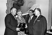 30/6/1964<br /> 6/30/1964<br /> 30 June 1964<br /> <br /> Mr Paul O'Dea Managing Director Connacht Mineral Water, Mrs O'Dea, Mr. B.H. Skinner Marketing Manager from Pepsi, and Mr. J.L. Leech Managing Director Pepsi