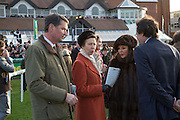 TIM LAURENCE; PRINCESS ANNE; JOAN COLLINS; PERCY GIBSON, Hennessy Gold Cup, The Racecourse Newbury. 30 November 2013.
