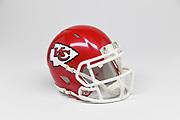 Detailed view of Kansas City Chiefs helmet.