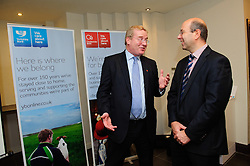 Pictured is guest speaker John Giles, divisional director at Promar International, left, with Oliver Maxey from Clydesdale and Yorkshire Bank<br /> <br /> Clydesdale and Yorkshire Bank food and the world dinner held at Lincoln Hotel as part of the bank's business week.  Promar International divisional director John Giles was the guest speaker at the event.<br /> <br /> Date: November 12, 2015<br /> Picture: Chris Vaughan/Chris Vaughan Photography