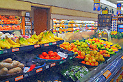 Grocery Produce, Bananas, Oranges, Apples, Tomatoes, Potatoes, Digital oil painted texture,  Beautiful, Unique
