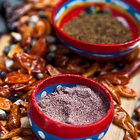 Chilies and blue corn for ChocoSol's tortillas.
