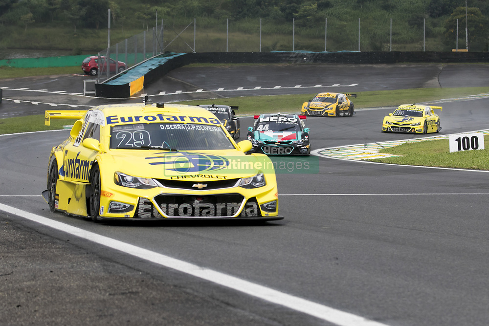 March 10, 2018 - Sao Paulo, Sao Paulo, Brazil - Mar, 2018 - This Saturday (10) at the Autodromo de Interlagos in the city of São Paulo, the Stock Car doubles stage, opening the 2018 season of the competition. In the photo the car of the pilots DANIEL SERRA and JOÃO PAULO OLIVEIRA of the team EUROFARMA-RC, winners of the race. (Credit Image: © Marcelo Chello via ZUMA Wire)