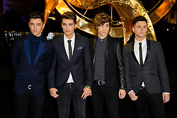 Union J at The World Premiere of 'The Hunger Games: Catching Fire'. Leicester Square, London, United Kingdom. Monday, 11th November 2013. Picture by Chris Joseph / i-Images