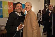 OSMAN YOUSEFZADA ,RUTH CHAPMAN;,  Stefania Pramma launched her handbag brand PRAMMA  at the Kensington residence of her twin sister, art collector Valeria Napoleone.. London.  29 April 2015
