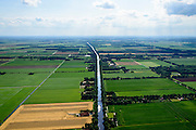 Nederland, Groningen, Gemeente Bellingwedde, 05-08-2014; B.L. Tijdenskanaal of Vereenigd Kanaal, belangrijk voor de waterhuishouding van Westerwolde. <br /> <br /> luchtfoto (toeslag op standard tarieven);<br /> aerial photo (additional fee required);<br /> copyright foto/photo Siebe Swart