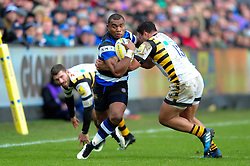 Semesa Rokoduguni of Bath Rugby takes on the Wasps defence - Mandatory byline: Patrick Khachfe/JMP - 07966 386802 - 04/03/2017 - RUGBY UNION - The Recreation Ground - Bath, England - Bath Rugby v Wasps - Aviva Premiership.