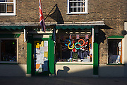 Misuse of the Olympic ring brand in a shop window at the Suffolk seaside town of Southwold, Suffolk.