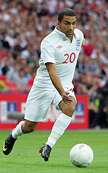 Aaron Lennon in action during the international friendly match between England and Slovenia at Wembley Stadium, London on the 5th September 2009