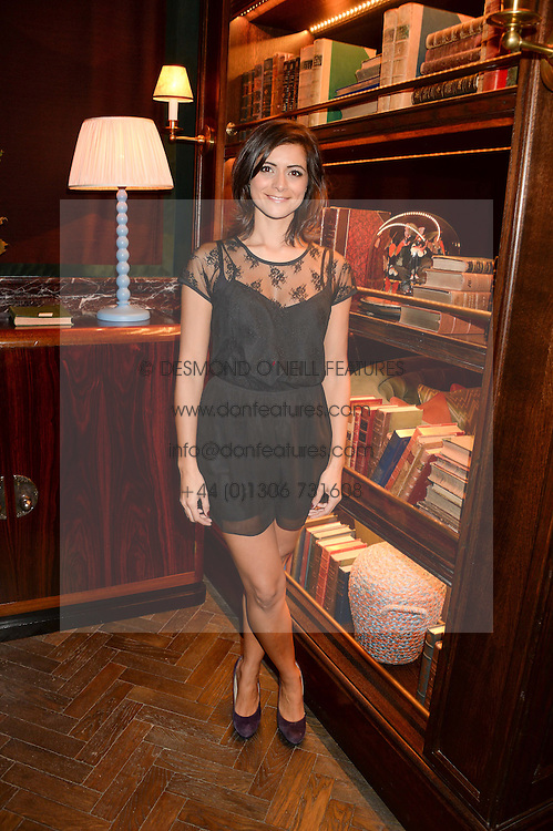 TV presenter LUCY VERASAMY at the launch of Rosewood London - a new luxury hotel at 252 High Holborn, London WC1 on 30th October 2013.