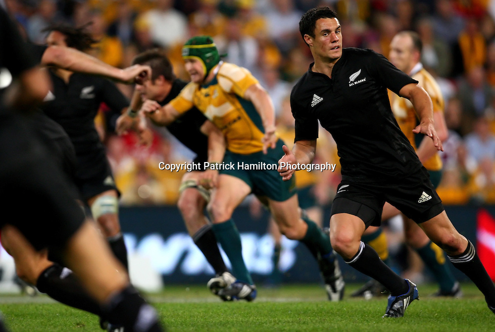 Dan Carter.All Blacks v Australia Tri Nations Rugby Union Test Match. Suncorp Stadium ,Brisbane. Australia,Saturday 13 September 2008 .