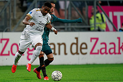 Gyrano Kerk #7 of FC Utrecht and Hakim Ziyech #22 of Ajax in action during the semi final KNVB Cup between FC Utrecht and Ajax Amsterdam at Stadion Nieuw Galgenwaard on March 04, 2020 in Amsterdam, Netherlands