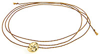 friendship knot bracelet in gold