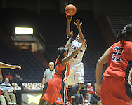 Ole Miss' Valencia McFarland (3) vs. South Alabama in women's college basketball in Oxford, Miss. on Friday, November 18, 2011.