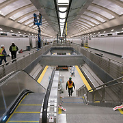 December 12, 2016 - New York, NY :  Finishing touches are taken care of underground, in the 86th Street Second Avenue subway station on Monday morning as, after years of delays, the new subway line is preparing to welcome its first straphangers. CREDIT: Karsten Moran for The New York Times